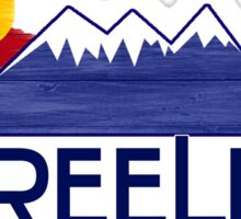 Greeley Colorado wood mountains Sticker