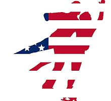 Figure Skaters American Flag by GiftIdea