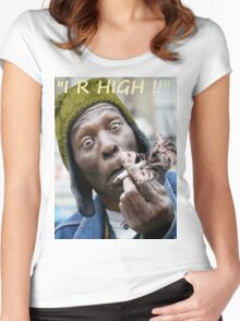 """I R High!!"" Women's Fitted Scoop T-Shirt"