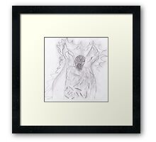 Weeping angel  Favourite  creatures from Dr who  Framed Print