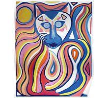 Retro Cat Poster