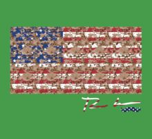 Ron Hedges - Camo Flag by Hedges Creations