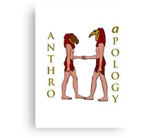 An Anthro Apology Greeting Canvas Print