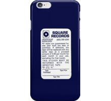 Square Records tape return iPhone Case/Skin