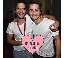 Dylan and Tyler You Make Me So Happy Photographic Print