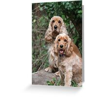 Portrait: Dad & Daughter Greeting Card