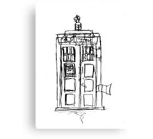 The Christmas TARDIS Canvas Print