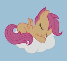 Scootaloo Sleeping on Cloud Kids Tee
