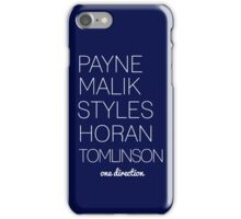 The boys of One Direction iPhone Case/Skin