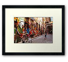 Hosier Laneway Grafitti Framed Print