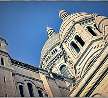 The domes of Sacre Coeur, Paris, France.  by Forrest Harrison Gerke