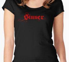 SINNER Women's Fitted Scoop T-Shirt
