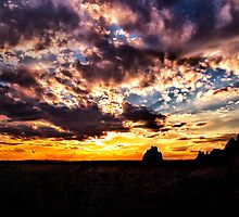 Sundown On the Badlands by Kathy Weaver