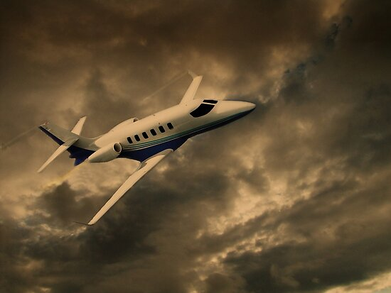 Jet Through The Clouds  by David Dehner