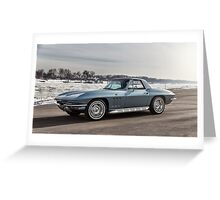 1966 Chevrolet Corvette Greeting Card