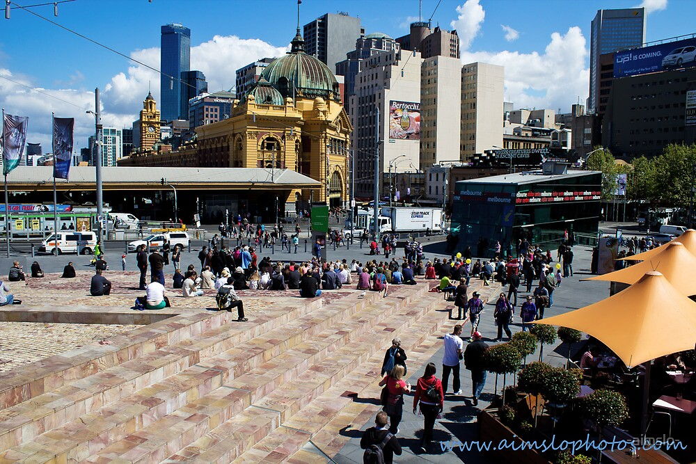 Melbourne's Federation Square by -aimslo-