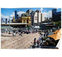 Melbourne's Federation Square Poster