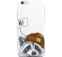 The Curious Little Raccoon  iPhone Case/Skin