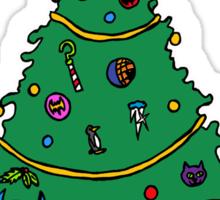 Gotham City Christmas Sticker