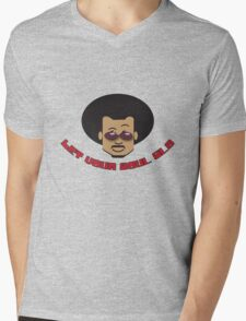 AfroMan Soul Glo Mens V-Neck T-Shirt