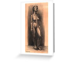 Figure in charcoal. Greeting Card