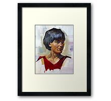 Human head study. Framed Print