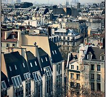 Paris rooftops from the Pompidou. by Forrest Harrison Gerke