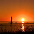 Frankfort Lighthouse - Michigan by DJ Florek