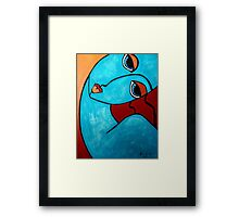 PICASSO PAINTING BY NORA  FEELING BLUE Framed Print