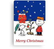 Charlie Christmas Tree Canvas Print