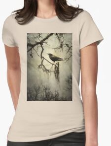 Winter Crow Womens Fitted T-Shirt