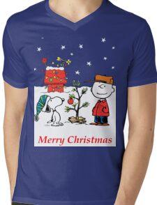 Charlie Christmas Tree Mens V-Neck T-Shirt