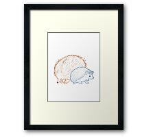 Hedgehogs & Echidnas Are Natural Enemies Framed Print