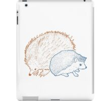Hedgehogs & Echidnas Are Natural Enemies iPad Case/Skin