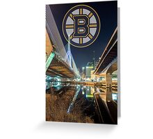 Bruins over Boston Greeting Card