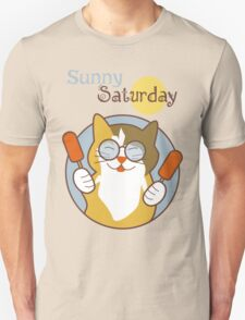 Sunny Saturday Days of the Week Cat T-Shirt