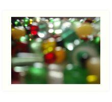 Christmas blur Art Print