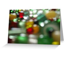 Christmas blur Greeting Card