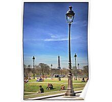 Light Posts in Les Tuileries, Paris. Poster