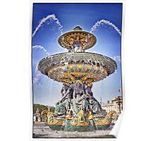 Fontaine des Fleuves, Paris.  Poster