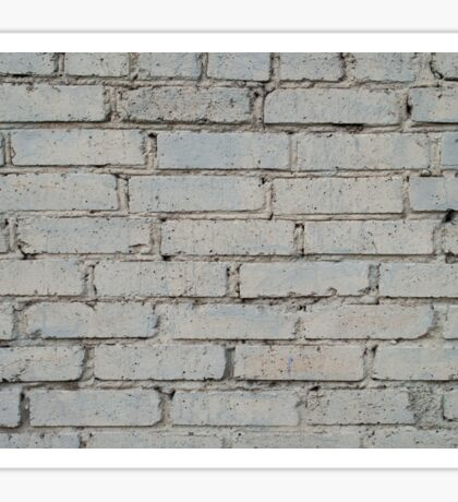 Soft image of a background of gray brick wall Sticker