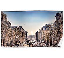 Place de la Concorde, Paris. Poster