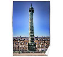 Place Vendôme, Paris.  Poster