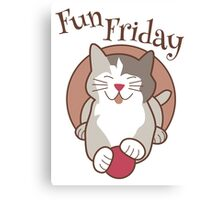 Fun Friday Days of the Week Cat Canvas Print