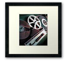 Admiral Tape Recorder Framed Print