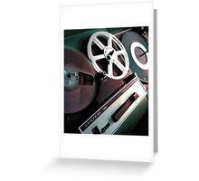 Admiral Tape Recorder Greeting Card