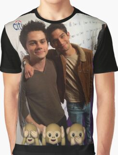 Dylan and Tyler Monkey Emoji Graphic T-Shirt