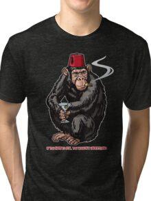 Chimp With A Fez Tri-blend T-Shirt