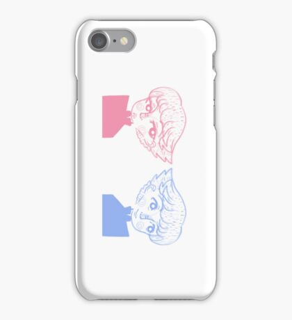 pink 'n blue mirror image iPhone Case/Skin