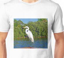 White Heron Unisex T-Shirt